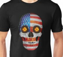 USA FLag Skull Unisex T-Shirt