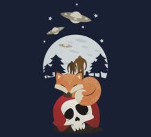 Dreaming of Cryptids and UFOs Kids Tee