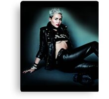 Hot Miley Cyrus Pose by bas Canvas Print