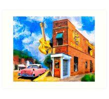 Musical Memories - Sun Studio in Memphis Tennessee Art Print