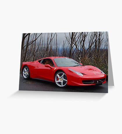 Ferrari 458 side/front Greeting Card