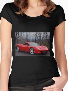 Ferrari 458 side/front Women's Fitted Scoop T-Shirt
