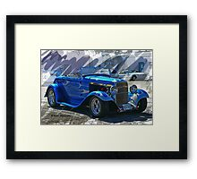 Hot Rod Convertible Cartoon Framed Print