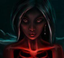 """The Eternal Light ""   -  (Dark Night of the Soul Art Illustration)  Sticker"