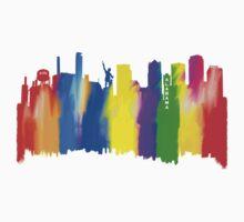 Colorful Birmingham Alabama Skyline Art One Piece - Short Sleeve