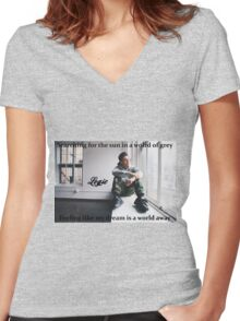 World of Grey  Women's Fitted V-Neck T-Shirt