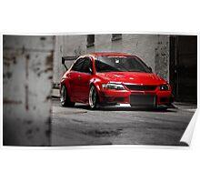 Stunning Red Evo8 Poster