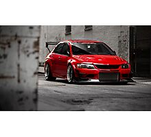 Stunning Red Evo8 Photographic Print
