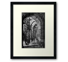 Through a Window Framed Print