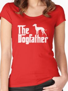 The Dogfather Italian Greyhound Women's Fitted Scoop T-Shirt