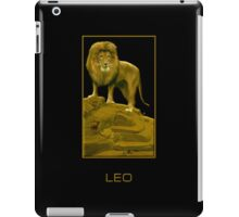 The Leo Zodiac Emblem iPad Case/Skin