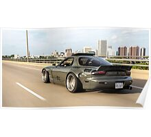 Rocket Bunny RX7 on the move Poster
