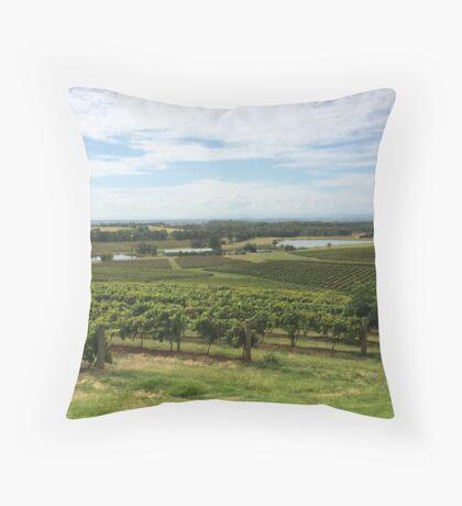 Winery Throw Pillow