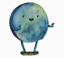 Disc Watercolor Shape Illustration Baby Tee