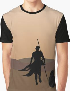 Rey and BB-8 Silhouette  Graphic T-Shirt