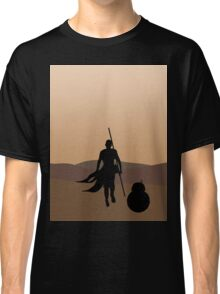 Rey and BB-8 Silhouette  Classic T-Shirt