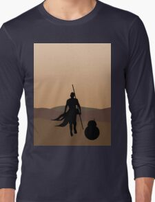 Rey and BB-8 Silhouette  Long Sleeve T-Shirt