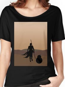 Rey and BB-8 Silhouette  Women's Relaxed Fit T-Shirt
