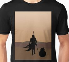 Rey and BB-8 Silhouette  Unisex T-Shirt