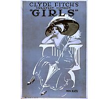 Vintage poster - Girls Photographic Print