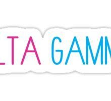 Delta Gamma Tall Font Sticker