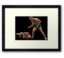 Conor McGregor Knocks Out Jose Aldo (base) Framed Print