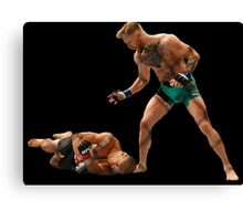 Conor McGregor Knocks Out Jose Aldo (base) Canvas Print