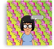 Tina Belcher Unicorn Pattern  Canvas Print