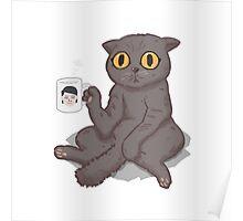 Catffeinated  Poster