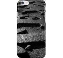 Cast Iron Raised Letters - Texas iPhone Case/Skin