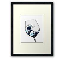 Waves in Wine Glass Framed Print