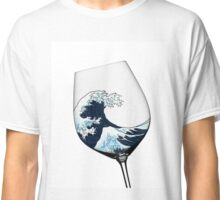 Waves in Wine Glass Classic T-Shirt