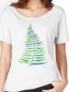 Palm Leaf – Green Palette Women's Relaxed Fit T-Shirt