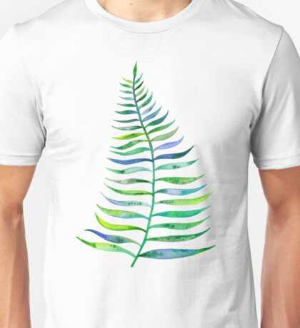 Palm Leaf – Green Palette Unisex T-Shirt