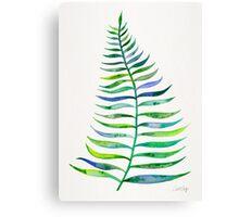 Palm Leaf – Green Palette Canvas Print