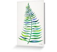 Palm Leaf – Green Palette Greeting Card