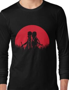 Kirito Asuna Red Moon Long Sleeve T-Shirt