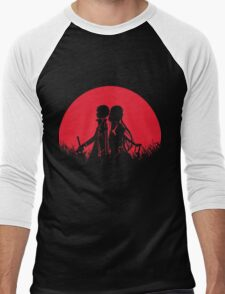 Kirito Asuna Red Moon Men's Baseball ¾ T-Shirt