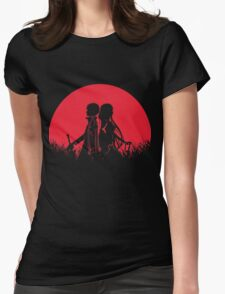 Kirito Asuna Red Moon Womens Fitted T-Shirt