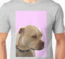Bailey the Tripod Dog in Pink Unisex T-Shirt