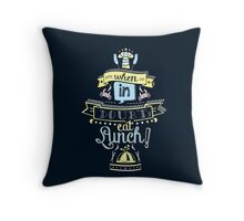 When in Doubt, Eat Lunch! Tee Throw Pillow