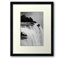 Breathtaking falls Framed Print