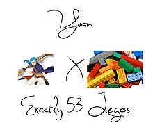 Yuan x Exactly 53 Legos Photographic Print