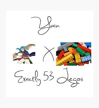 Yuan x Exactly 53 Legos Photographic Print