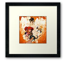 Juggling Cats Framed Print