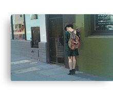 Texting One, Two,... Canvas Print
