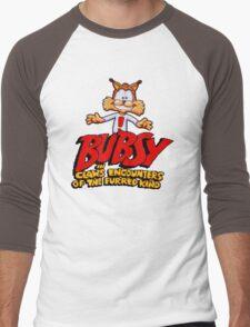 Bubsy (SNES) Title Screen Men's Baseball ¾ T-Shirt