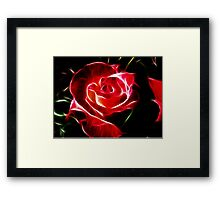 Red Rose Fractalius Framed Print
