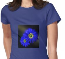 Royal Blue Asters - Orton Effect Womens Fitted T-Shirt
