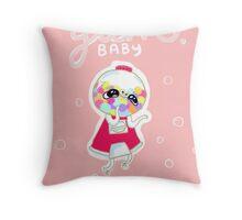 Gum Baby Throw Pillow